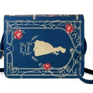 Beauty and the Beast Belle Book Purse Blue Gold